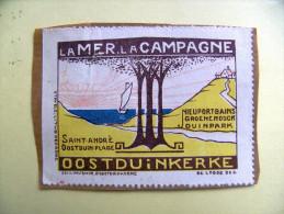 Le MER La CAMPAGNE Saint-André Oostduin Plage Nieuport Bains Groene Houck Duinpark OOSTDUINKERKE 1933 - Erinnophilie