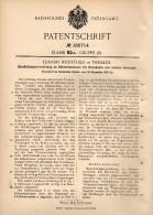 Original Patentschrift - Eduard Hickethier In Theißen B. Zeitz , 1905 , Apparat Für Braunkohle - Trockner !!! - Historische Dokumente