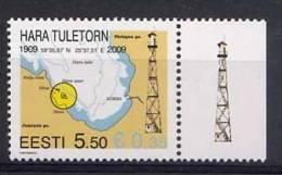 ESTONIE 2009, PHARE DE HARA TULETORN, 1 Valeur, Neuf. R481 - Phares