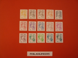 France Neuf 2013 Autoadhesif N° YT 847A 861 Marianne Et La Jeunesse 15 VALEURS SERIES COMPLETE - Adhesive Stamps