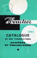 CINEMA  PROJECTEURS CATALOGUE PUBLICITAIRE  HEURTIER 1962 - Projecteurs