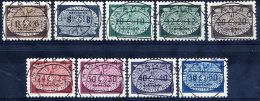 GENERAL GOVERNMENT  1940 Official Small Format Set Used.  Michel 16-24 - 1939-44: World War Two