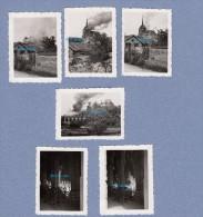 6 Photos Anciennes - POGNY ( Marne ) - L' Eglise En Flamme - TOP Exceptionnel - Occupation Allemande - 1940 - WW2 - War, Military