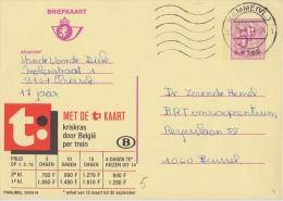 Publibel 2650°: (De  T: - KAART) : SPOORWEG,CHEMIN De FER,RAILWAYS,TREIN,TRAIN, - Publibels