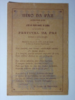 B5161 * Liceu Pedro Nunes, Festival Da Paz, Jardim Zoológico 1919. Hino.  Henrique Lopes De Mendonça - Evénements
