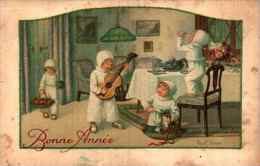 Illustrateur Pauli EBNER - Bonne Année, Enfants Vêtus De Blanc Maison (BD 2455) - Ebner, Pauli