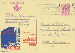 PUBLIBEL 2671°: (LA FOURMI) : VACANCES,HOLIDAYS,INSECTS ,MIER,FOURMI,ANT,WESTENDE , - Stamped Stationery