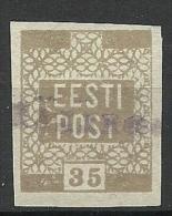 ESTLAND Estonia Estonie 1919 Provisonal Line Cancel On Michel 3 - Estonia