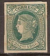Isla De Cuba 015 (*) Isabel II. 1866. Sin Goma - Cuba (1874-1898)