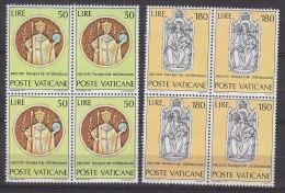 PGL BT130 - VATICANO SASSONE N°513/14 ** QUARTINE - Vatican