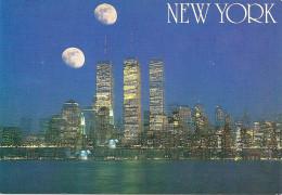 """POSTAL DE NEW YORK CON EL FANTÁSTICO FENÓMENO ASTRONÓMICO DE """"LAS DOS LUNAS"""".  TWO MOONS! UNICA! GREAT VIEW!  GECKO. - Sterrenkunde"""