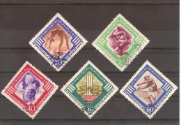 Russie & URSS 1957 Sport Série Complete Oblitérée N° 1943/1947 // Sans Le Présentoir - 1923-1991 URSS