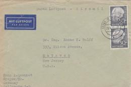 BUND, HEUSS BESSERE MeF. Luftpost Speyer/New Jersey. MK - [7] Federal Republic