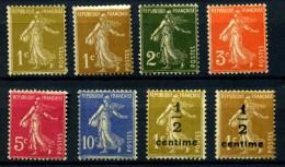 Y&T N° 277A**/279B** - 1903-60 Sower - Ligned