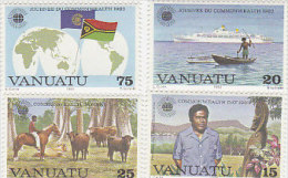 Vanuatu-1983 Commonwealth Day 349-352 MNH - Vanuatu (1980-...)
