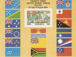 Vanuatu-1990 Independence 10th Anniversary Souvenir Sheet  529 MS  MNH - Vanuatu (1980-...)