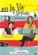 La Vie D' Artitste Kiberlain, Dequenne, Podalydes. Partenariat La Poste - Posters On Cards