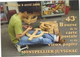 E Bourse De La Carte Postale Et Vieux Papier . MONTPELLIER JUVIGNAC.  Fabricant Faucilles Et Marteaux.. - Bourses & Salons De Collections