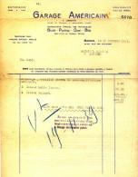 AUTOMOBILE - BUICK - PONTIAC - OPEL - BLITZ - GARAGE AMERICAIN - FACTURE NAMUR 1939 - A LAMBIOTTE - Cars