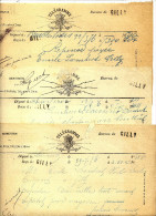 CHEMIN DE FER - GILLY - 3 TELEGRAMMES AVEC GRIFFE GILLY - 1976 - Postmark Collection