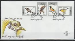 Mef076fb FAUNA VOGELS ROOFVOGEL VALK BIRDS FALCON VÖGEL AVES OISEAUX ARUBA 1998 FDC - Birds