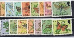Serie Nº 403/17 Falkland Island - Butterflies