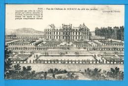 CP, 92, Vue Du Château De SCEAUX Du Côté Des Jardins - Gravure De Pérelle, Vierge, TRES RARE - Sceaux