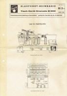 2 Schémas électriques RADIO BLAUPUNKT - Type GRANADA 21300 - 1961 + Facture D'achat      (3508) - Littérature & Schémas