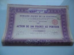 DOMAINE JULIEN DE LA GUETHNA (1931) MOSTAGANEM-ALGERIE - Aandelen