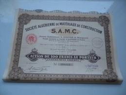 S.A.M.C. Algerienne De Materiaux De Construction (1929) ALGERIE - Aandelen