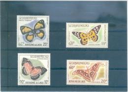 LAOS MARIPOSAS 151/154 (4V) 1965 MICHEL - Laos