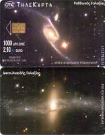 GREECE PHONECARD SPACE STREAKED GALAXY -X1333  - 250000pcs-10/01-USED - Espacio