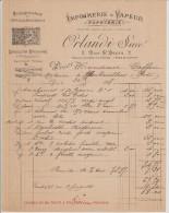 1898 IMPRIMERIE à VAPEUR   ORLANDI à PARIS  Fournitures Pour Officiers Ministériels - Francia