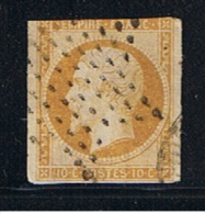 1853   //   10  Centimes Bistre   //  N  13  //  Cachet étoile - 1853-1860 Napoléon III