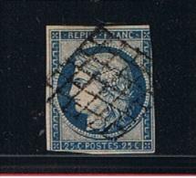 18510   //   25  Centimes Bleu   //  N  4  //  Côte 45 € - 1849-1850 Ceres