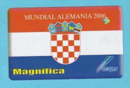 COTAS CROATIA CROACIA   Flag Soccer World Cup GERMANY 2006 BOLIVIA BOLIVIE BOLIVIEN Used - Bolivie