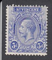 St Vincent 1921   3d   SG134   MH - St.Vincent (...-1979)