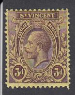 St Vincent 1921   3d   SG135   MH - St.Vincent (...-1979)