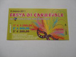 REPUBBLICA DI SAN MARINO - LOTTERIA FESTA DI CARNEVALE - 2011 - Pubblicitari