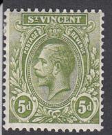 St Vincent 1921   5d   SG136   MH - St.Vincent (...-1979)