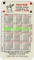 Calendrier 1958 - PIATNIK Première Marque Autrichienne De Cartes à Jouer - Calendarios