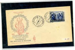 FDC VENETIA 1952 MARTIRI DI BELFIORE - 6. 1946-.. Repubblica
