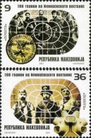 Macedonia 2003 100 Anniversary Of The Ilinden Uprising Against Turkey, Set MNH - Macedonia
