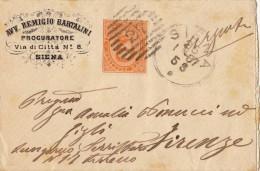 SIENA 1887 - GRAZIOSA BUSTINA PUBBLICITARIA - ANNULLO NUMERALE A BARRE - S2093 - 1878-00 Umberto I