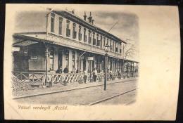 AK   HUNGARY   ASZOD   Bahnhof  Railway Station  Pre-1900 - Ungarn