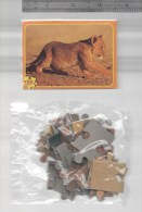 MINI Box & PUZZLE 24 Pc. AFRICAN WILD LIFE LION LIONS CUBS Whelp FAUNA AFRICA - Autres