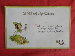 Saint-Patrick's Day Embossed  1914 Cancel      Ref 1221 - Saint-Patrick's Day