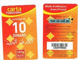 TUNISIA  -  TUNISIANA  (GSM RECHARGE) - LA CARTE VIVANTE 10      -  USED  -  RIF. 2660 - Tunisia