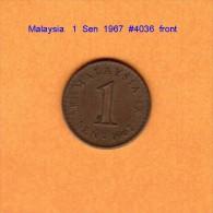 MALAYSIA   1  SEN  1967  (KM # 1) - Malaysia