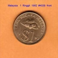 MALAYSIA   1  RINGGIT  1992  (KM # 54) - Malaysia